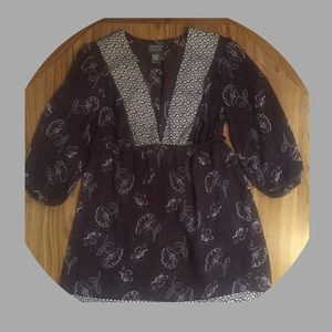 """MOTTO """"Your Style Mantra"""" Tunic 1/2-Sleeves Small"""